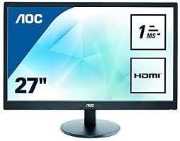 "<b>AOC e2770Sh 27</b>"" Widescreen TN LED Black Multimedia Monitor ..."