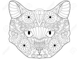 cat coloring book for s vector ilration kitten anti stress coloring for