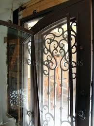 iron glass doors door swing wrought iron stained glass door inserts