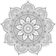 Small Picture 981 best Coloring Mandalas images on Pinterest Adult coloring