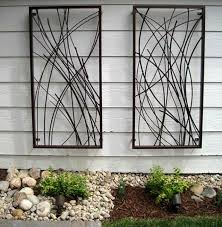 decorative metal garden wall art