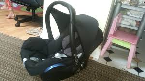 maxi cosi cabriofix car seat cover removal very clean condition in instructions