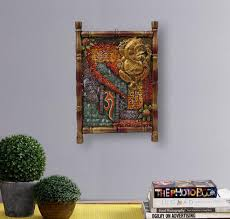 wooden antique ganesha 3d wall art framed painting on ganesh 3d wall art with wooden antique ganesha 3d wall art framed painting lakdi par