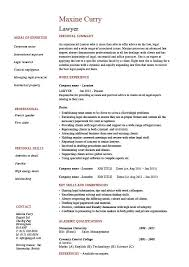 Attorney Resume Samples Template