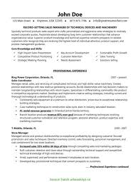 Interesting Construction Sales Manager Resume Examples Sample Hotel