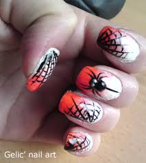 Gelic' nail art: Halloween spider and spider web nail art