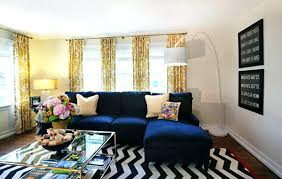blue and yellow living room deep color sofa blue white yellow living room