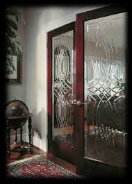 interior etched glass french doors