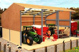 pb1a g pro build tractor and machinery shed grey frame
