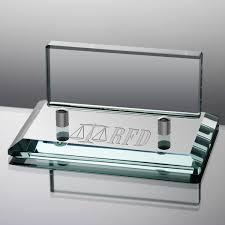 desk business card holder engraved jade glass business card holder for lawyers