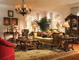 Michael Amini Living Room Furniture Aico Palais Royale Wood Trim Living Room Set By Michael Amini By