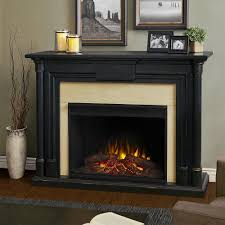 real flame maxwell 58 in grand series electric fireplace in black wash