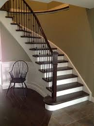Wrought Iron Color Wrought Iron Spindles White Risers Dark Maple Steps Paint Color