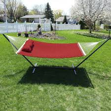 two person hammock with stand. Angelo Quilted Designs Double Fabric Person Hammock With Stand Inside Two