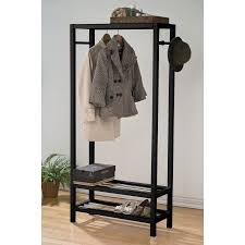 Shoe Coat Hat Racks Extraordinary Simple Relax 32PerfectChoice Maeve Clean Lines Black Wood Clothing