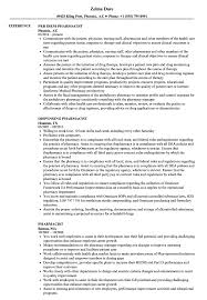 Pharmacist Resume Samples Velvet Jobs