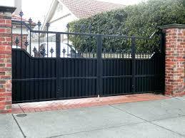 gate bi folding gates wooden