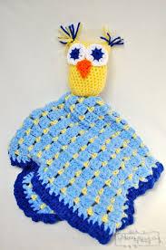 Crochet Owl Blanket Pattern Free Delectable Crochet Owl Blanket Lovey Free Pattern Crochet Owl Blanket
