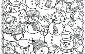 Free Christmas Snowman Coloring Pages Unique Cute Christmas Coloring
