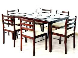 glass top dining table set 8 chairs white and seater for tables round kitchen enchanting t