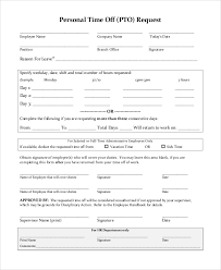 Personal Time Off Request Form Sample Time Off Request Form 8 Examples In Pdf Word