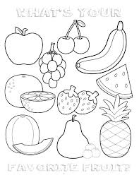 Fruits Coloring Pages Pdf Fruit And Veg Fruit And Veg And Free Fruit