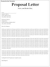 Proposal Email Template Sales Commission Letter Offer Format