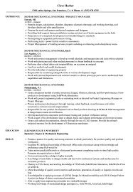 Mechanical Engineering Resume Examples Custom Senior Mechanical Engineer Resume Samples Velvet Jobs