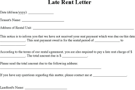 Tenant Late Rent Notice Letter Template Specialization