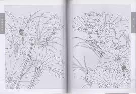 9787554701973 春夏 工筆線描画譜 白描画稿 中国画描き方 大人の塗り絵