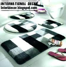 gray and white bathroom rug sets black bath mat striped rugs