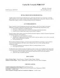 Human Resources Resume Example Sample Resumes For The Industry