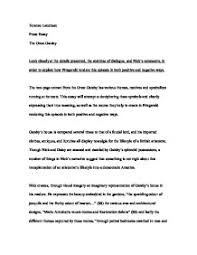 how to write a college admission essay paragraph accounting literary analysis essay topics for the great gatsby story essay illusion and corruption in the great
