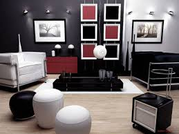 Gorgeous Pictures Of Black White And Grey Living Room Decoration Ideas :  Fascinating Red Black White