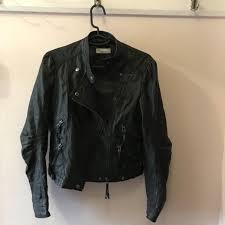 women s leather look biker jacket size 10