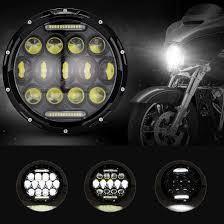 Dot Approved Motorcycle Lights Ironwalls 1pcs Dot Approved 7 Inch Led Headlight Bulbs