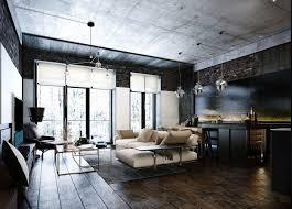 dark apartment design for bachelors