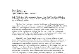 which of the following marked the start of the cold war  document image preview