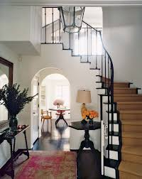 In the entry hall of Amanda Peet and husband David Benioff's 1927 Spanish  colonial house in