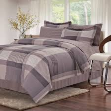 brown grey harmony piece queen bed in bag set b on mainstays piece bed in a