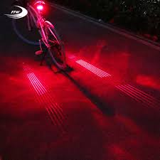 Us 8 93 22 Off Ftw Bicycle Tail Light Usb Rechargeable 10 Line Laser Bike Rear Light Night Cycling Safety Warning Back Led Lamp Waterproof In
