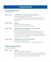 Example Of An Agenda Template Samples In Word Special Event Format ...