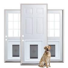 exterior back door with dog door. custom doors with doggie door | jeld-wen® steel and fiberglass installed pet pinterest door, doggies exterior back dog c