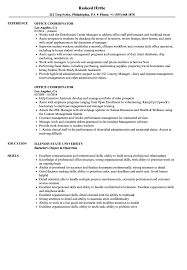 Office Coordinator Resume Sample Office Coordinator Resume Samples Velvet Jobs 2