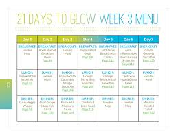 21 Days To Glow Just Glowing With Health