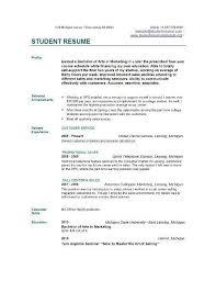 Cv Template College Student 2 Cv Template Sample Resume Student