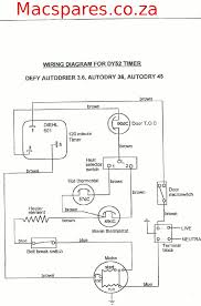 wiring diagrams tumble driers macspares whole spare defy tumble drier autodrier 3 6 36 45