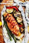 barbecued chicken in foil