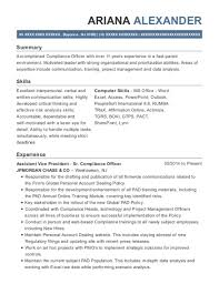 Compliance Analyst Resume