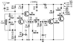 human detect circuit sensors detectors circuits next gr relay output proximity sensor